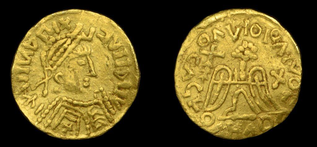 Lot 613 - Merovingian pseudo-imperial gold tremissis