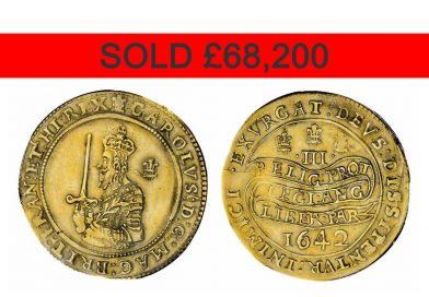 Lot 4601, Charles I Triple Unite sold