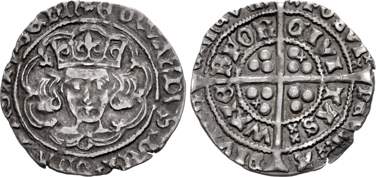 Lot 1080, Edward IV, Groat