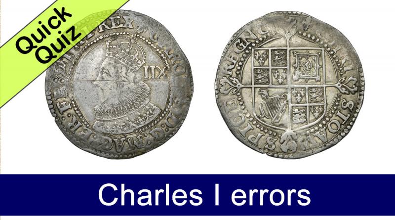 Quick Quiz - Charles I errors