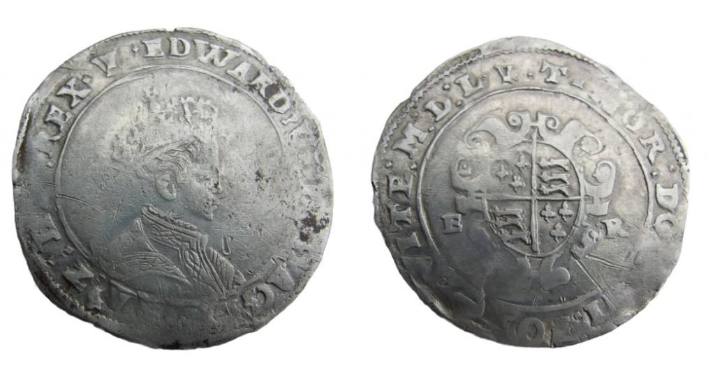 Edward VI, shilling mm Y web