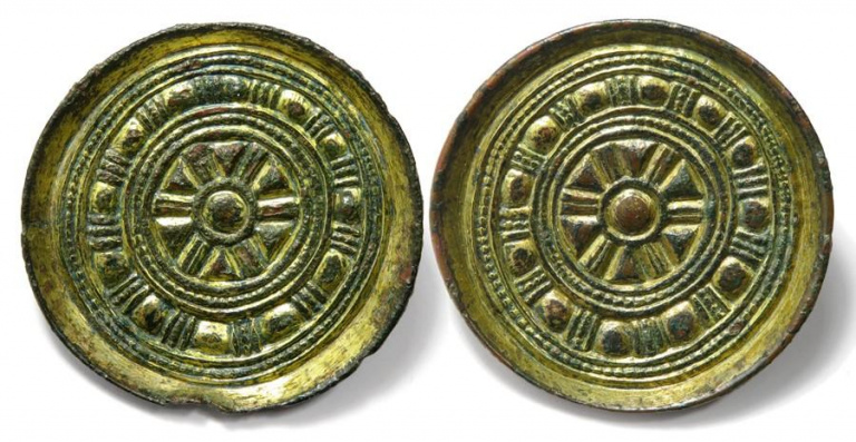 Lot 103, Pair of Anglo-Saxon Saucer Brooches