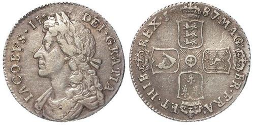 Lot 231, James II Shilling