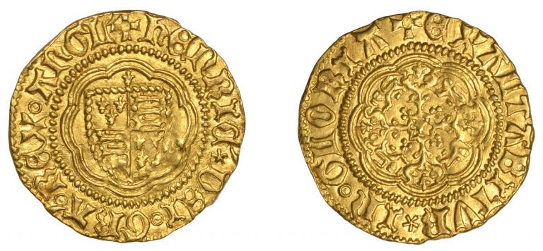 Lot 362, Henry V Quarter-Noble