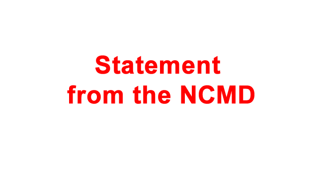 Statement from NCMD