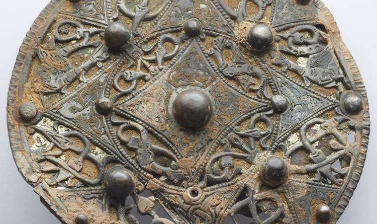 Medieval Silver Disc Brooch