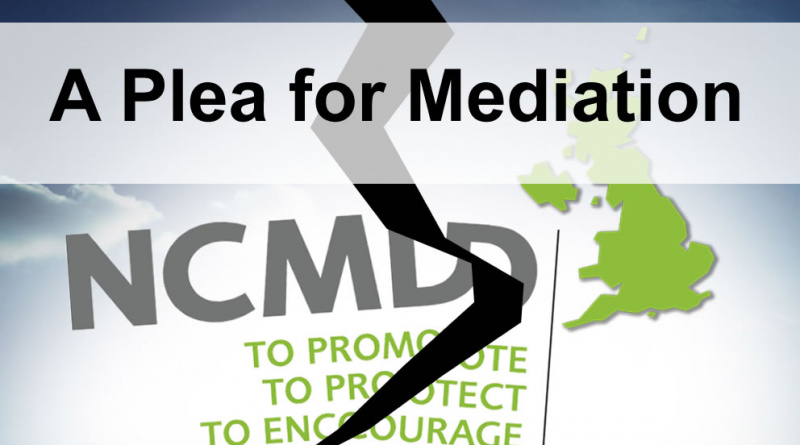 NCMD Dispute a plea for mediation