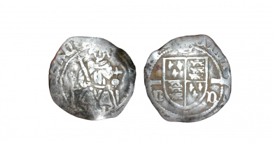 Henry VII sovereign type penny of Durham