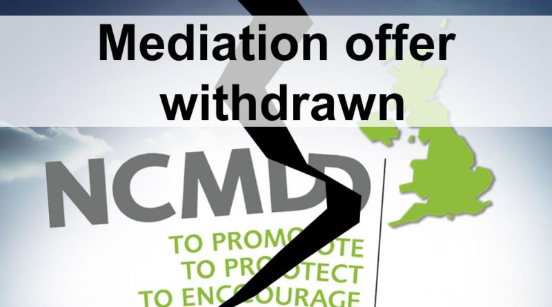 NCMD mediation withdrawn