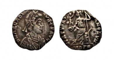 silver siliqua of Arcadius