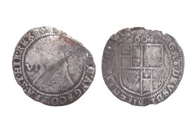 sixpence of James I