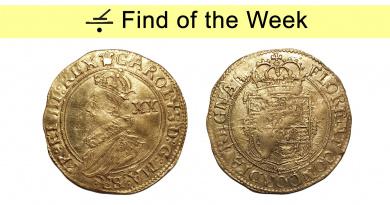Gold unite of Charles I