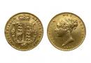 gold half sovereign of Victoria
